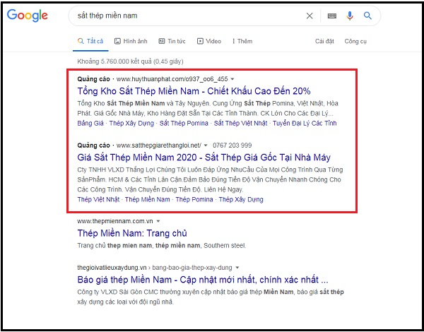 Dịch vụ Google Search Ads